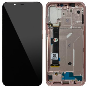 Xiaomi Mi 8 - Full Front LCD Digitizer with Frame Gold