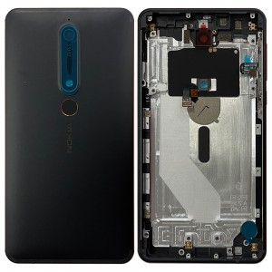 Nokia 6.1 TA-1043 / TA-1050 / TA-1068 - Back Housing Cover with Buttons Black / Copper