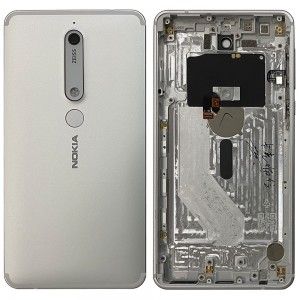 Nokia 6.1 - Back Housing Cover with Buttons White / Iron
