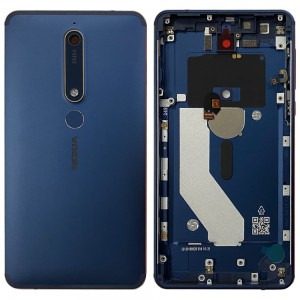 Nokia 6.1 - Back Housing Cover with Buttons Blue / Gold