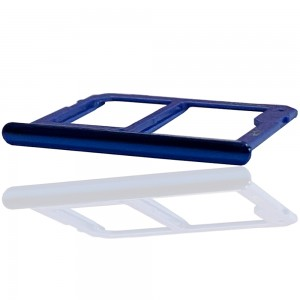 Samsung Galaxy J4+ J415 / J6+ 2018 J610 - Sim2 + Micro SD Carte Tray Holder Blue