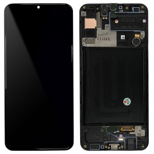 Samsung Galaxy A30s A307F - Full Front LCD Digitizer With Frame Black < Service Pack >