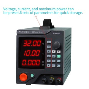 Hanmer - DC Power Supply 30V/10A Adjustable Switching Regulated Power Supply HM310P