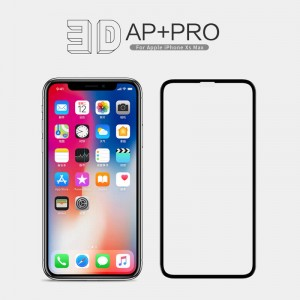 iPhone XS  MAX / 11 Pro MAX - NillKin 3D CP+ Max Full Coverage Anti-explosion Tempered Glass Black