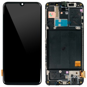 Samsung Galaxy A40 A405F - Full Front LCD Digitizer (Original Remaded) Black