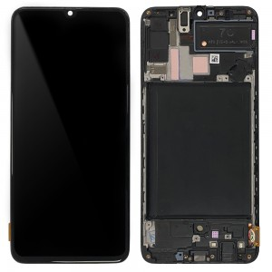 Samsung Galaxy A70 A705F - Full Front LCD Digitizer (Original Remaded) Black