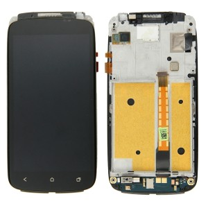 HTC One S - Full Front LCD Digitizer with Frame Black