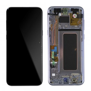 Samsung Galaxy S8 Plus G955F - Full Front LCD Digitizer With Frame Purple (Original Remaded)