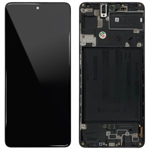 "Samsung Galaxy A71 A715F - Full Front LCD Digitizer Black "" Service Pack """