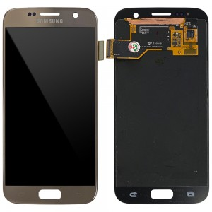 Samsung Galaxy S7 G930F - Full Front LCD Digitizer (Original Remaded) Gold