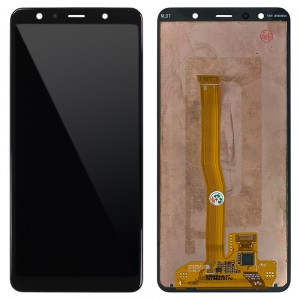 Samsung Galaxy A7 2018 A750 - Full Front LCD Digitizer (Original Remaded) Black
