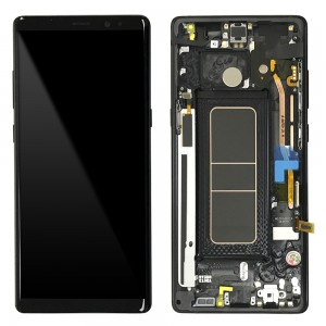 Samsung Galaxy Note 8 N950F - Full Front LCD Digitizer With Frame Black (Original Remaded)
