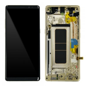 Samsung Galaxy Note 8 N950F - Full Front LCD Digitizer With Frame Gold (Original Remaded)