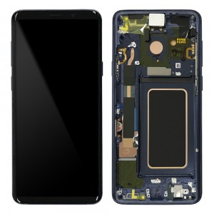 Samsung Galaxy S9 Plus G965F - Full Front LCD Digitizer With Frame Blue (Original Remaded)