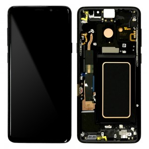 Samsung Galaxy S9 Plus G965F - Full Front LCD Digitizer With Frame Black (Original Remaded)