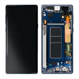 Samsung Galaxy Note 9 N960 - Full Front LCD Digitizer Blue ( Original Remaded )