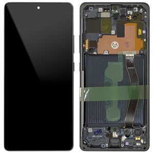 Samsung Galaxy S10 Lite G770F - Full Front LCD Digitizer With Frame Prism Black < Service Pack >