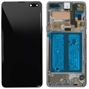 Samsung Galaxy S10 5G G977F - Full Front LCD Digitizer With Frame Majestic Black < Service Pack >
