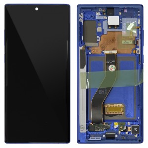 Samsung Galaxy Note 10+ N975 - Full Front LCD Digitizer Aura Blue < Service Pack >
