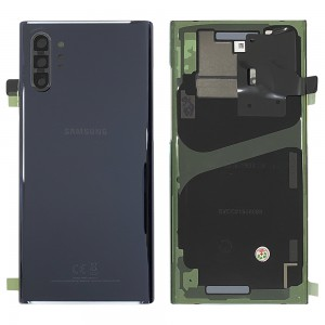 Samsung Galaxy Note 10+ N975 - Battery Cover Original with Camera Lens and Adhesive Aura Black < Service Pack >