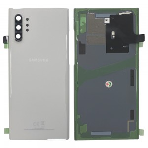 Samsung Galaxy Note 10+ N975 - Battery Cover Original with Camera Lens and Adhesive Aura White < Service Pack >