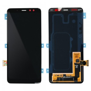 Samsung Galaxy A8 (2018) A530 - Full Front LCD Digitizer Black (Original Remaded)