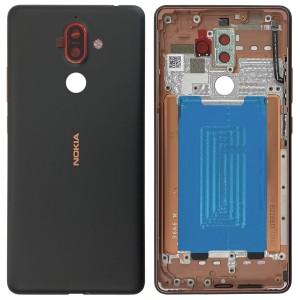 Nokia 7 Plus - Battery Cover Black/Copper