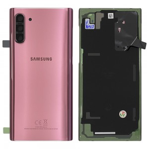 Samsung Galaxy Note 10 N970 - Battery Cover Original with Camera Lens and Adhesive Aura Pink < Service Pack >