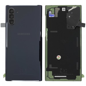 Samsung Galaxy Note 10 N970 - Battery Cover Original with Camera Lens and Adhesive Aura Black < Service Pack >