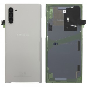 Samsung Galaxy Note 10 N970 - Battery Cover Original with Camera Lens and Adhesive Aura White < Service Pack >