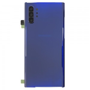 Samsung Galaxy Note 10+ N975 - Battery Cover Original with Camera Lens and Adhesive Aura Blue < Service Pack >