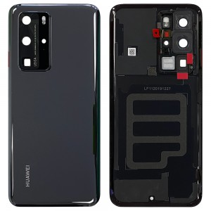 Huawei P40 Pro - OEM Battery Cover Black With Camera Lens