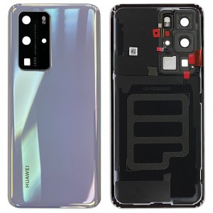 Huawei P40 Pro - OEM Battery Cover Ice White With Camera Lens