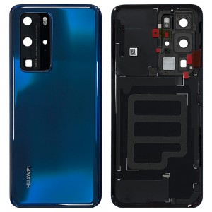 Huawei P40 Pro - OEM Battery Cover Deep Sea Blue With Camera Lens