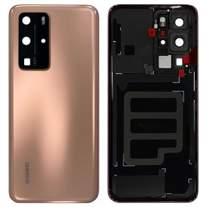 Huawei P40 Pro - OEM Battery Cover Blush Gold With Camera Lens