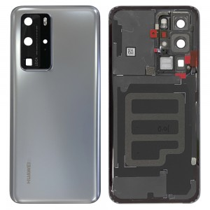 Huawei P40 Pro - OEM Battery Cover Silver Frost With Camera Lens