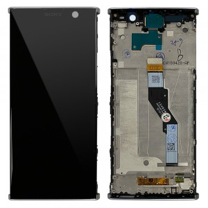 Sony Xperia XA2 Plus ( H4413 / H3413 / H4493 ) - Full Front LCD Digitizer With Frame Silver