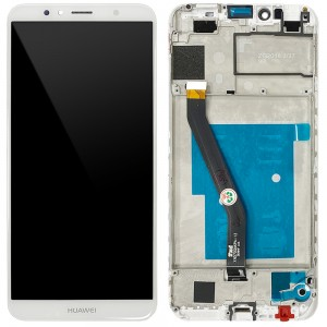 Huawei Ascend Y6 2018 - Full Front LCD Digitizer With Frame White