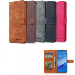 Samsung Galaxy A40 A405 - Diaobaolee Wallet leather Case with 3 Card Slots