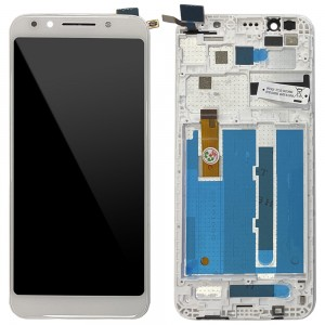 "Alcatel Vodafone Smart N9 Lite VFD620 - Full Front LCD Digitizer with Frame White ""Service Pack"""