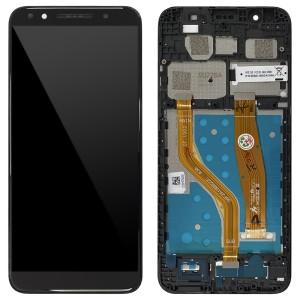 Alcatel Vodafone Smart N9 VFD720 - Full Front LCD Digitizer Black with Frame