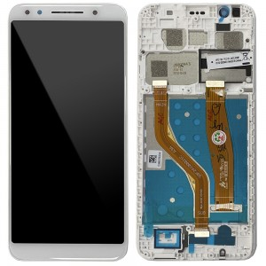 "Alcatel Vodafone Smart N9 VFD720 - Full Front LCD Digitizer with Frame White ""Service Pack"""