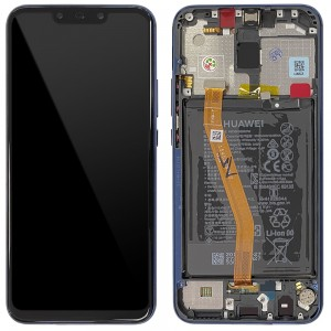 Huawei Mate 20 Lite - Full Front Lcd Digitizer Blue With Frame & Battery < Service Pack >