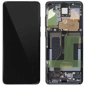 "Samsung Galaxy S20+ G985 / S20+ 5G G986 - Full Front LCD Digitizer Cosmic Black ""Service Pack"""