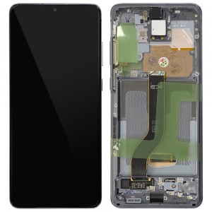 "Samsung Galaxy S20+ G985 / S20+ 5G G986 - Full Front LCD Digitizer Cosmic Grey ""Service Pack"""