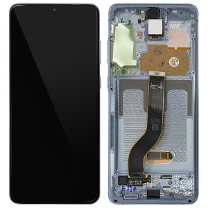 "Samsung Galaxy S20+ G985 / S20+ 5G G986 - Full Front LCD Digitizer Cloud Blue ""Service Pack"""