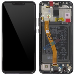 "Huawei Mate 20 Lite - Full Front Lcd Digitizer Black With Frame & Battery ""Service Pack"""