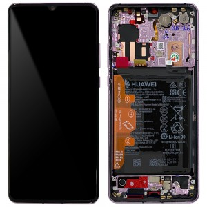 "Huawei P30 Pro - Full Front LCD Digitizer With Frame Misty Lavender ""Service Pack"""