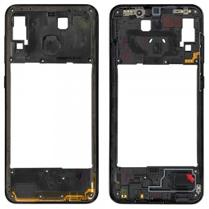 Samsung Galaxy A20 A205 - Middle Plate Frame Black
