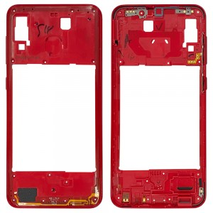 Samsung Galaxy A20 A205 - Middle Plate Frame Red
